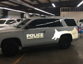 Chevy Tahoe Police K-9 Vehicle Ghost Graphic Decals, any color