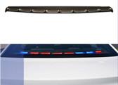 Sound-off Ford Police Interceptor Sedan (Taurus) n-Force Rear Deck Facing Interior LED Light bar ENFWBRF, Single color per light-head, includes shroud to reduce flash-back, 2013-2019