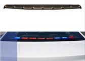 Sound-off Chevy Caprice n-Force Rear Deck Facing Interior LED Light bar ENFWBRF, Single color per light-head, includes shroud to reduce flash-back