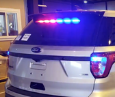 Sound-off Ford Police Interceptor Utility SUV (Explorer) n-Force Rear Windshield Facing Interior LED Light bar ENFWBRF, Dual (2) colors per light-head, includes shroud to reduce flash-back, 2013-2019