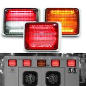 Federal Signal QuadraFlare LED Surface Mount Light Head, 9x7