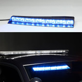 Whelen Inner Edge® FST™ Ford Police Interceptor Sedan, 2013-2018, Upper Front Facing Interior Light Bar, Passenger Side Unit Only, Low Current Switching or WeCan®, SOLO or DUO LEDs per light head (ISFL-ISFW-385-386)