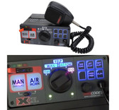 Code-3 Xcel™ 3492L6-S Siren and Light Controls, 12V, Hard-wired Microphone, Programmable