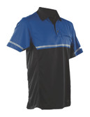 Tru-Spec 24-7 Series Men's Short Sleeve Tactical Bike Polo, includes reflective material strip, commonly worn by Police and Security, choose Blue or Yellow, 4550
