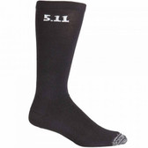 5.11 Tactical 3 Pack 9 Inch Men's Sock, Large, high-performance, Moisture-wicking and quick-dry, Black 59121