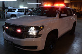 New 2019 White Tahoe PPV  for Fire-EMS with Red-White LEDs - Admin Turnkey Police Package, 2WD, + Delivery
