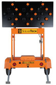 Solar Powered Arrow Board Trailer Traffic Advisor Panel 25 LED Lamp by SolarTech