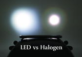 Whelen LED Spotlight Replacement P46SLC compared to standard Unity Halogen.