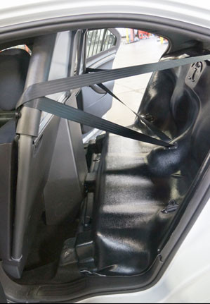 Pts Police Plastic Rear Prisoner Transport Seat For Ford