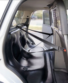 PTS Police Plastic Prisoner Transport Seat System with Cargo Barrier for Ford Interceptor Utility SUV, 2013-2019