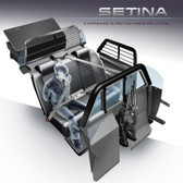 Setina Ford Police Interceptor Utility SUV (Explorer) 2013-2019 Dual Prisoner Total Transport System