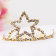 Flower Girls Tiaras - Flower Girl Gold Star Tiara - CR-HPC714-G