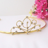 Girls Tiaras - Flower Girl Gold Tiara - CR-HPC42861-G