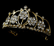 Girls Tiaras - Flower Girl Gold Tiara - CR-HPC400