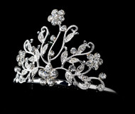 Girls Tiaras - Flower Girls Pearl Crystal Tiara - CR-HPC2006P