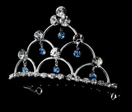 Girls Tiaras - Flower Girls Lt. Blue Crystal Tiara - CR-HPC500LB