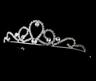 Girls Tiaras - Flower Girl Silver Tiara - CR-HPC783