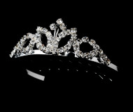 Girls Tiaras - Flower Girl Silver Tiara - CR-HPC60077
