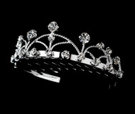 Girls Tiaras - Flower Girl Silver Tiara - CR-HPC511