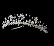 Girls Tiaras - Flower Girl Silver Tiara - CR-HPC100