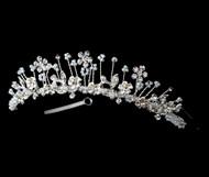 Girls Tiaras - Flower Girl Silver Tiara - CR-HPC100
