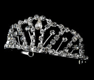 Girls Tiaras - Flower Girl Silver Tiara - CR-HPC681-S