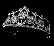 Girls Tiaras - Flower Girl Silver Tiara - CR-HPC400-S