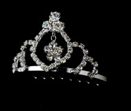 Girls Tiaras - Flower Girls Silver Tiara - CR-HPC241