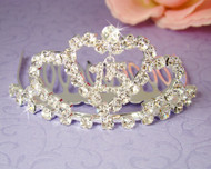 Girls Tiaras - Quinceanera Sweet 15 Silver Tiara - CR-HPC713-S