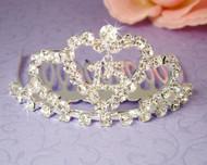 Girls Tiaras - Quinceanera Sweet 15 Silver Tiara - CR-HPC713-S
