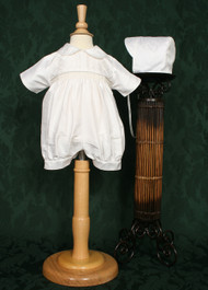 Laura Ashley Boys Smocked Silk Christening Romper