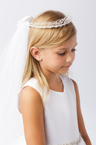 Veil With Tiara | First Communion Veil With Tiara
