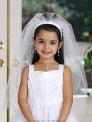 Ivory First Communion Veil | Communion Veil And Headpiece