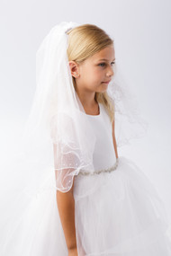 Flower Girl Veil | Communion Veil For Little Girls