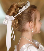 First Communion Crown | Flower Girl Floral Beaded Crown