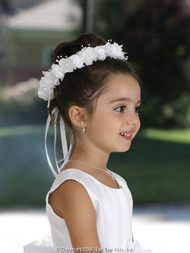 1s Communion Floral Head Wreath | Flower Girl Head Wreath