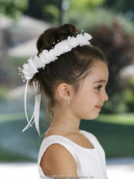 Flower Girl Headwreath | White Communion Headwreath