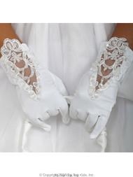 Tip Top Kids Flower Girl Gloves - First Communion Gloves For Girls