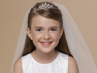 US Angels Flower Girl Veil | 1st Communion Veil