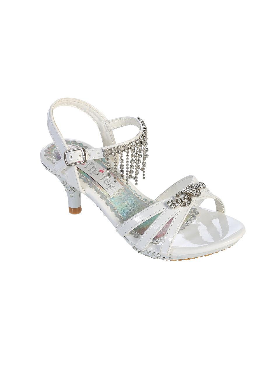 flower girl dress shoes silver