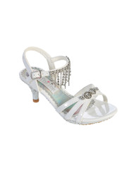 Dress Silver Shoes For Girls   Silver Wedding Flower Girl Pageant Shoes