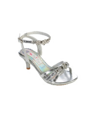 Girls Silver Pageant Shoes | Pageant Dress Sandals For Little Girls