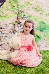 Girls Special Occasion Lace Party Dress