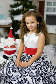 Floral Print Birthday Party Dress For Girls
