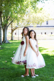 Flower Girl Petal Dress  And Party Dress For Weddings