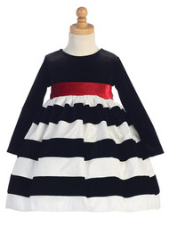 Lovely Striped Party Dress For Baby