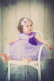 Sequin Baby Dress With Tulle Skirt