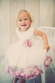 Flower Girl Dress With Petals For Baby