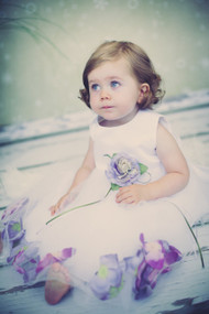 Baby Dress With Flower Petals For Flower Girls