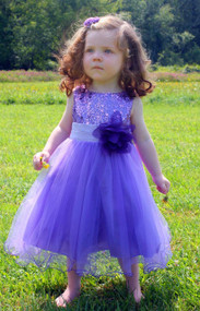 Lovely Sequin And Tulle Party Dress For Girls